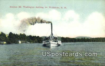 Steamer Mt Washington - Wolfeboro, New Hampshire NH Postcard