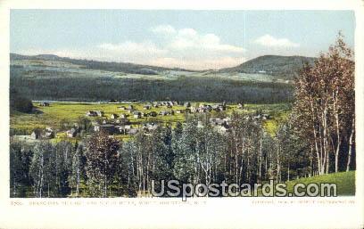 Franconia Village & Sugar Hills - White Mountains, New Hampshire NH Postcard
