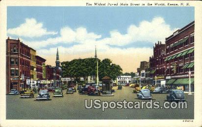 Widest Paved Main Street - Keene, New Hampshire NH Postcard