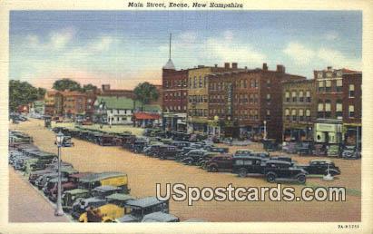 Main Street - Keene, New Hampshire NH Postcard