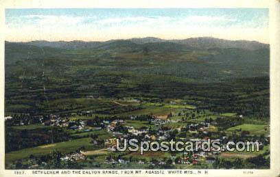 Bethlehem & the Dalton Range - White Mountains, New Hampshire NH Postcard