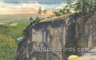 Cathedral Ledge - White Mountains, New Hampshire NH Postcard