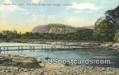 Foot Bridge & Ledges - White Mountains, New Hampshire NH Postcard