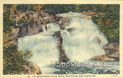 Georgianna Falls - White Mountains, New Hampshire NH Postcard