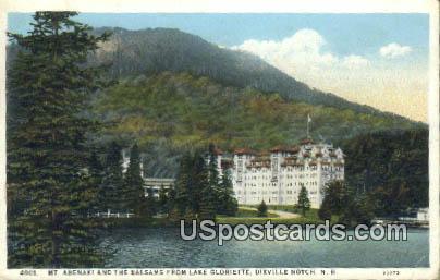 Mt Abenaki & the Balsams, Lake Gloriette - Dixville Notch, New Hampshire NH Postcard