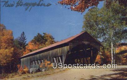 Covered Bridge - Albany, New Hampshire NH Postcard