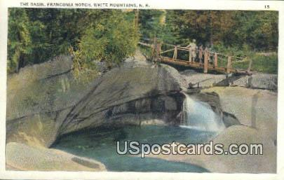 The Basin, Franconia Notch - White Mountains, New Hampshire NH Postcard