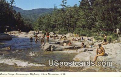Rocky Gorge - White Mountains, New Hampshire NH Postcard