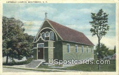 Catholic Church - Wolfeboro, New Hampshire NH Postcard