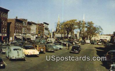 Main Street & Central Square - Keene, New Hampshire NH Postcard