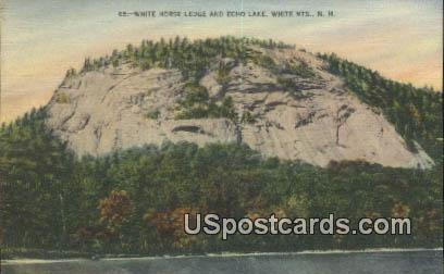 White Horse Ledge, Echo Lake - White Mountains, New Hampshire NH Postcard