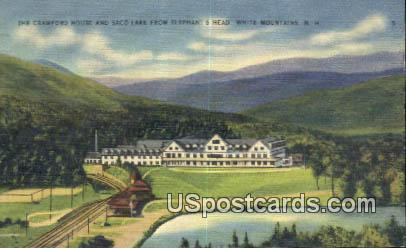 Crawford House, Saco Lake - White Mountains, New Hampshire NH Postcard