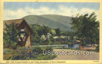 Old Covered Bridge - White Mountains, New Hampshire NH Postcard
