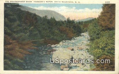Pemigewasset River, Franconia Notch - White Mountains, New Hampshire NH Postcard