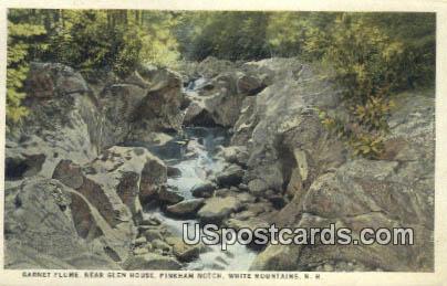 Garnet Flume, Glen House - White Mountains, New Hampshire NH Postcard