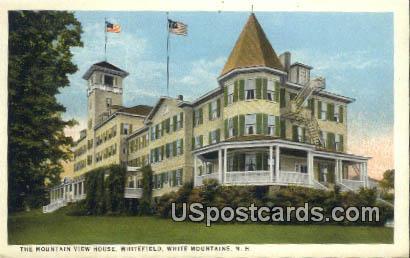 Mountain View House - White Mountains, New Hampshire NH Postcard