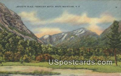 Lafayette Place, Franconia Notch - White Mountains, New Hampshire NH Postcard
