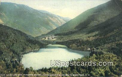 Echo Lake, Franconia Notch - White Mountains, New Hampshire NH Postcard