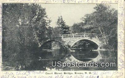 Court Street Bridge - Keene, New Hampshire NH Postcard