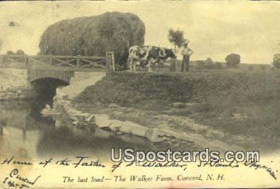 Last Load, Walker Farm - Concord, New Hampshire NH Postcard