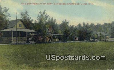 Cottages at Wares Lakeside - Shofford Lake, New Hampshire NH Postcard