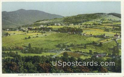 Sugar Hill & Hotels - White Mountains, New Hampshire NH Postcard