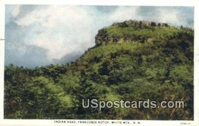 Indian Head, Franconia Notch - White Mountains, New Hampshire NH Postcard