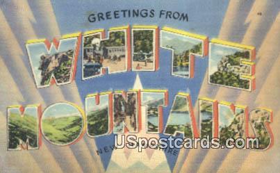 White Mountains, New Hampshire Postcard      ;      White Mountains, NH