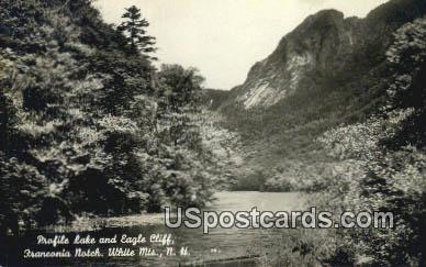 Profile Lake & Eagle Cliff, Franconia Notch - White Mountains, New Hampshire NH Postcard