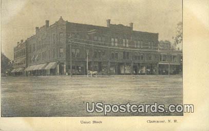 Union Block - Claremont, New Hampshire NH Postcard