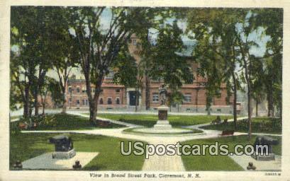 Broad Street Park - Claremont, New Hampshire NH Postcard