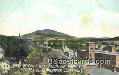 Ascutney Mountain, Hotel Claremont - New Hampshire NH Postcard