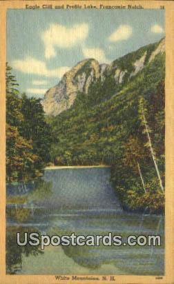 Eagle Cliff, Profile Lake - White Mountains, New Hampshire NH Postcard
