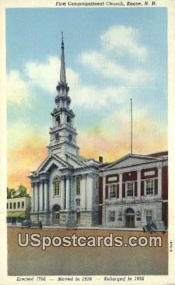 First Congregational Church - Keene, New Hampshire NH Postcard
