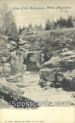 Gorge of the Ammonoosuc - White Mountains, New Hampshire NH Postcard