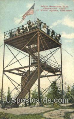 Observation Tower, Mount Agassiz - White Mountains, New Hampshire NH Postcard