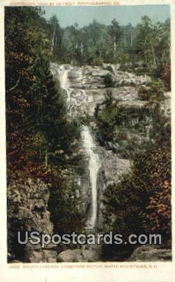 Silver Cascade, Crawford Notch - White Mountains, New Hampshire NH Postcard