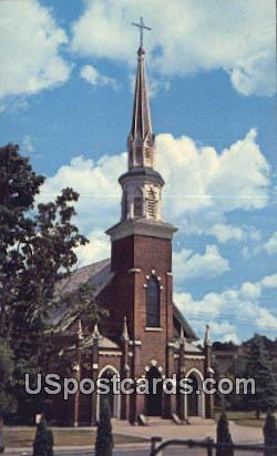 St Mary's Roman Catholic Church - Claremont, New Hampshire NH Postcard