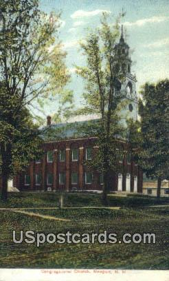 Congregational Church - Newport, New Hampshire NH Postcard