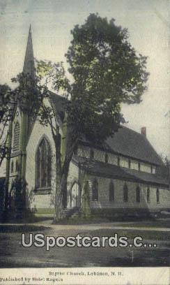 Baptist Church - Lebanon, New Hampshire NH Postcard