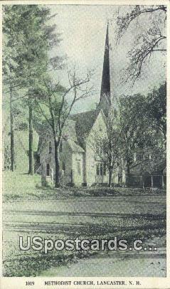 Methodist Church - Lancaster, New Hampshire NH Postcard
