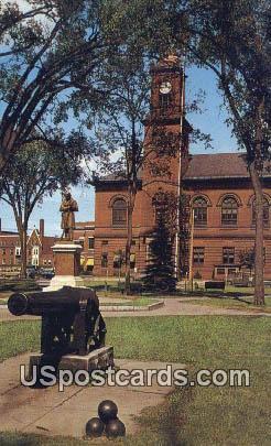 Braod Street Park & Town Hall - Claremont, New Hampshire NH Postcard