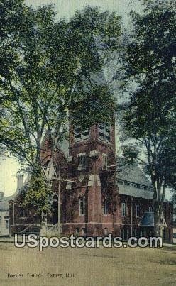 Baptist Church - Exeter, New Hampshire NH Postcard