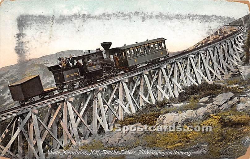 Jacobs Ladder - White Mountains, New Hampshire NH Postcard