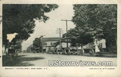 Broadway - West Derry, New Hampshire NH Postcard