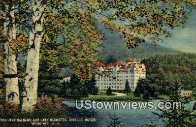 Balsams, Lake Gloriette, Dixville Notch - White Mountains, New Hampshire NH Postcard