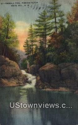 Emerald Pool - White Mountains, New Hampshire NH Postcard