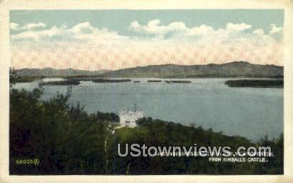 Lake Winnepesaukee - Mount Washington, New Hampshire NH Postcard
