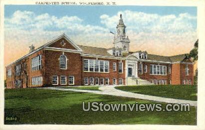 Carpenter School - Wolfeboro, New Hampshire NH Postcard