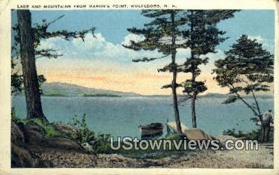 Lake & Mountain, Mason's Point - Wolfeboro, New Hampshire NH Postcard